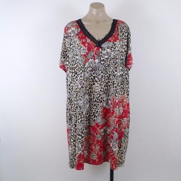 44c3d2d744 Linea Donatella Other - Linea Donatella Leopard   Floral Nightgown
